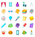 science project icons set cartoon style vector image