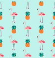 seamless tropical pattern with flamingos vector image