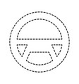 steering wheel car equipment web button vector image