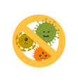 stop microbes cartoon vector image