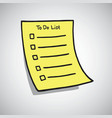 to do list paper checklist doodle vector image