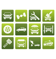 Flat auto service and transportation icons vector image