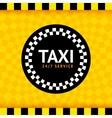 Taxi round symbol vector image