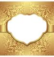 golden background vector image vector image