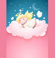 pretty angel baby sleeping vector image vector image