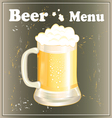 mug with beer vector image vector image