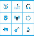 music colored icons set collection of gramophone vector image
