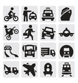 transportation icon vector image vector image