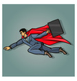 Businessman superhero vector image