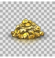 Golden nuggets pile vector image