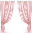 Pink curtain isolated on a white background vector image vector image