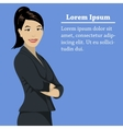 Asian success business woman concept vector image
