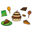 desserts collection vector image vector image