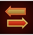 Retro Showtime Sign Design Arrows Cinema Signage vector image