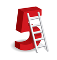A Ladder With The Number Five vector image