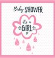 baby girl shower invitation vector image