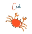 C is for crab vector image