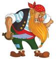 cartoon evil pirate vector image