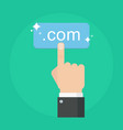 Domain name concept vector image
