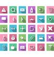 Flat icon set vector image