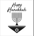 happy hanukkah jewish holiday vector image