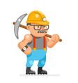 miner collier man pitman character cartoon mine vector image