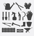 Gardening Tools Silhouette vector image