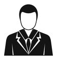 Businessman avatar icon simple style vector image