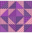 Seamless patchwork violet color pattern vector image