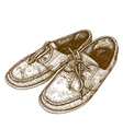 engraving shoes vector image vector image