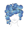 Beautiful abstract silhouette of a girl with vector image