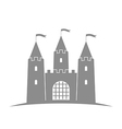 Antique castle Abstract building on white vector image