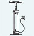 Automobile air-pump vector image