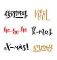 calligraphic christmas set vector image