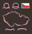 Colors of Czech Republic vector image