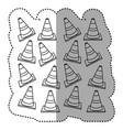 figure traffic cones background icon vector image