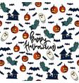 happy halloween seamless pattern vector image