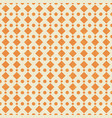 pattern in retro style with orange dot vector image