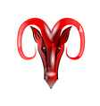 red aries vector image