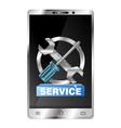 repair of smartphones and gadgets vector image