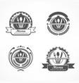 Set of design menu labels vector image