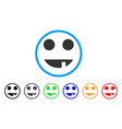 witch smile rounded icon vector image