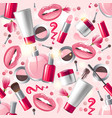 cosmetics seamless vector image vector image