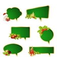 Speech bubbles on white vector image vector image