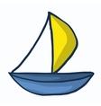 Traditional ship style design cartoon vector image