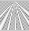 Rays light effect isolated on transparent vector image