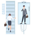 Gender inequality issues concept business woman vector image