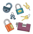 Set of locks vector image
