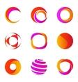 Business Abstract Circle logo icons vector image