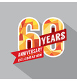 60th Year Anniversary Celebration Design vector image